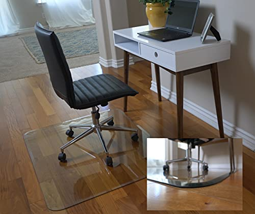 Clearly Innovative Store- 36 x 46 Glass Chair Mat With Exclusive Beveled Edge