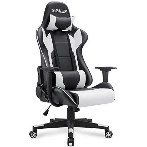 Homall Leather Desk Office Chair with Lumbar Support