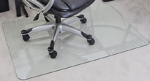 MyGlassMat- Tempered Glass Chair Mat With Polished Edges