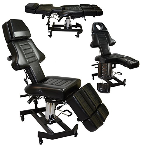 New patented InkBed hydraulic client tattoo massage chair