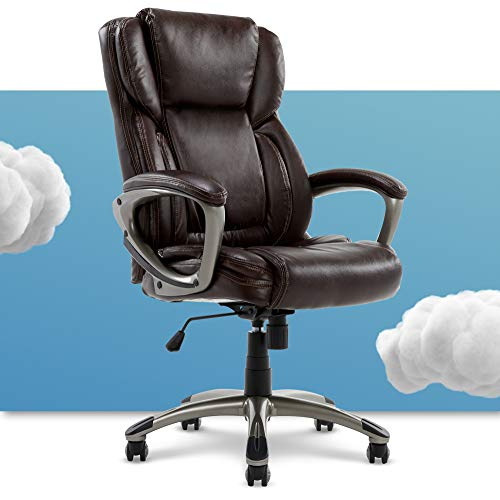 Serta Executive Office Adjustable Ergonomic Computer Chair With Layered Body Pillows